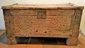 Baul Arcon Tallado Antiguo de la India con Herrajes